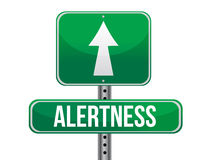 Alertness road sign illustration design. Over a white background Royalty Free Stock Photo