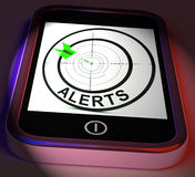 Alerts Smartphone Displays Phone Reminder Or Alarm Royalty Free Stock Photo
