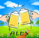 Ales Beer Shows Public House et tavernes illustration de vecteur