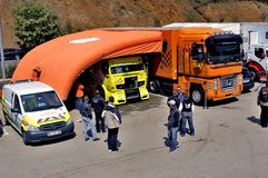 Ales - France - Grand Prix of France trucks May 25th and 26th, 2013 Royalty Free Stock Photo