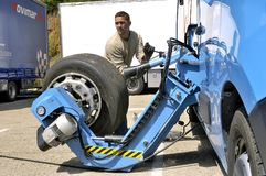 Ales - France - Grand Prix of France trucks May 25th and 26th, 2013 on the circuit of the Cevennes. Stock Photography