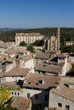 Ales, France: Image with the city seen from above Royalty Free Stock Images