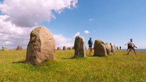 Ale standing stones Time Lapse stock video