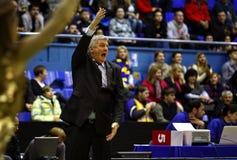 Ales Pipan, primo allenatore dell'Olimpia Lubiana del sindacato Fotografie Stock Libere da Diritti