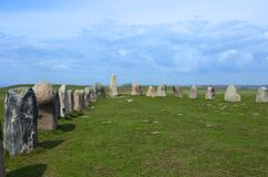 Ales stenar Ale`s Stones, Archaeological Site in Southern Sweden Royalty Free Stock Image