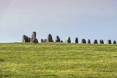 Ales stones, imposing megalithic monument in Skane, Sweden stock image