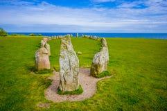 Ales stenen in Skane, Zweden Royalty-vrije Stock Fotografie