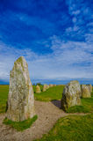 Ales stones in Skane, Sweden. Ales stones, ancient megalithic monument in Skane, Sweden Stock Photo