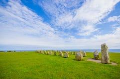 Ales stones in Skane, Sweden Stock Photography