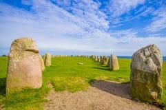 Ales stones in Skane, Sweden Royalty Free Stock Photos