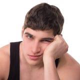 Alesaggio di depressione dell'uomo del giovane del perdente Immagine Stock