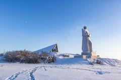 Alesha zabytek Obrońcy sowieci Arktyczny murmansk zdjęcie stock