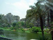 Alexandria in egypt: the street and the building Royalty Free Stock Photos