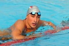 Alessandro Calvi swimming. MILAN, ITALY - SEPT 21:  Alessandro Calvi swimming champion during the performance september 21, 2008 in Milan, ITALY Stock Image