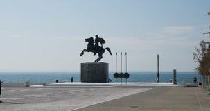 Alessandro Magno, città di Salonicco, Grecia video d archivio