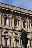 Alessandro manzoni statue in Milan Stock Photos