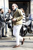 Alessandro squarzi Streetstyle milano,milan fashion week autumn winter 2015 2016 Royalty Free Stock Photos