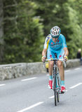 Alessandro Vanotti στο συνταγματάρχη du Tourmalet - γύρος de Γαλλία 2014 Στοκ Εικόνα