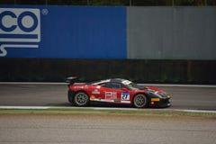 Alessandro Vezzoni Ferrari 458 utmaning Evo på Monza Royaltyfri Bild