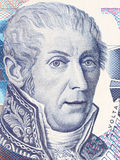 Alessandro Volta portrait from Italian money Stock Image