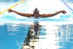 Alessia Filippi. MILAN, ITALY - SEPT 21:  Alessia Filippi swimming champion during the performance september 16, 2008 in Milan, ITALY Royalty Free Stock Photo
