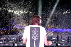 Alesso (шведский DJ и электронный производитель танцевальной музыки) стоковое фото rf