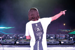Alesso (Swedish Deejay and electronic dance music producer) performs at FIB Festival Stock Image