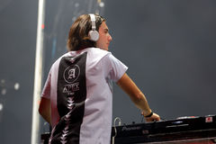 Alesso (Swedish disc jockey and electronic dance music producer). BENICASSIM, SPAIN - JULY 20: Alesso (Swedish disc jockey and electronic dance music producer) Stock Image
