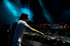 Alesso (Swedish DJ and electronic dance music producer) performs at FIB Festival. BENICASSIM, SPAIN - JULY 20: Alesso (Swedish DJ and electronic dance music Stock Images