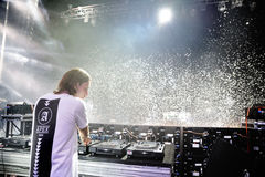 Alesso (Swedish DJ and electronic dance music producer) performs at FIB Festival. BENICASSIM, SPAIN - JULY 20: Alesso (Swedish DJ and electronic dance music Stock Photos