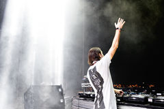 Alesso (Swedish DJ and electronic dance music producer) performs at FIB Festival. BENICASSIM, SPAIN - JULY 20: Alesso (Swedish DJ and electronic dance music Stock Image