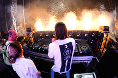 Alesso Swedish DJ and electronic dance music producer performs at FIB Festival. BENICASSIM, SPAIN - JULY 20: Alesso Swedish DJ and electronic dance music royalty free stock photos