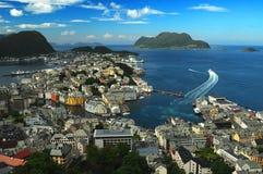 alesund挪威 免版税库存照片