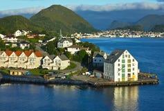 Alesund,挪威 免版税库存照片