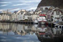 Alesund, κύρια στέλνοντας πόλη του Sunnmøre distric Στοκ φωτογραφίες με δικαίωμα ελεύθερης χρήσης