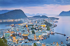 alesund Νορβηγία Στοκ Φωτογραφίες