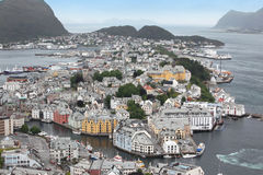Alesund , the Art Deco city of Norway due to it's many Art Deco Stock Photography