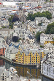 Alesund. Buidings and canal. Norwegian traditional tourist desti Stock Image