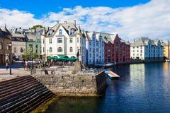 Alesund centrum miasta, Norwegia Obrazy Stock