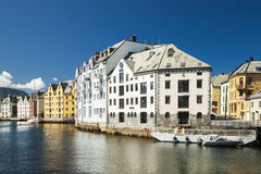Alesund, city on the fjords in Norway Royalty Free Stock Photo