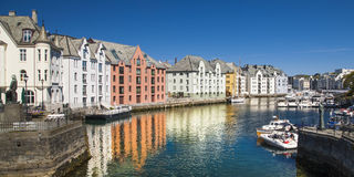 Alesund, city on the fjords in Norway Royalty Free Stock Image