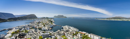 Alesund, city on the fjords in Norway Royalty Free Stock Photos