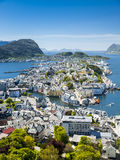 Alesund, city on the fjords in Norway Stock Photography