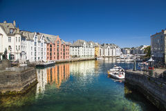 Alesund, city on the fjords in Norway Royalty Free Stock Images
