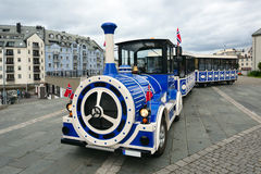Alesund City Train Sightseeing. Norway. Royalty Free Stock Photos