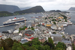 Alesund de Noruega Fotos de archivo libres de regalías