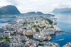 Alesund en Noruega Imagenes de archivo