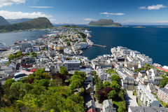 Alesund. Fjellstua Viewpoint. Norway d Stock Image