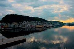 Alesund harbor Norway Royalty Free Stock Photos