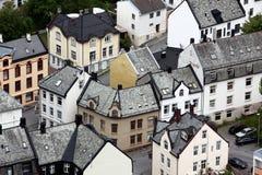 Alesund - jest zna jako art deco miasto Obrazy Stock